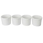 BIA White Porcelain Assorted Textured 12 Ounce Ramekin