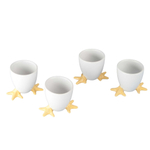BIA White Porcelain Chicken Footed Egg Cup, Set of 4