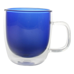 Canvas Home Blue Double Wall Glass 8.5 Ounce Coffee Mug
