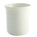 Cake Boss White Ceramic Icing Pattern Utensil Crock