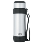 Thermos Stainless Steel Vacuum Insulated 61 Ounce Beverage Bottle with Folding Handle