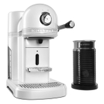 KitchenAid KES0504FP0 Frosted Pearl White Nespresso Espresso Maker with Aeroccino Milk Frother