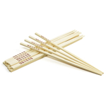 Kitchen Supply Natural Bamboo 10.5 Inch Chopsticks, 10 Pairs
