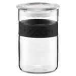 Bodum Presso 20 Ounce Storage Jar With Black Silicone Band