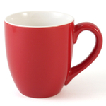 Oggi Red Porcelain Barrel Mug