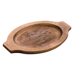 Lodge Grip Style Walnut Stained Underliner for 10 x 7.5 Inch Oval Serving Griddle