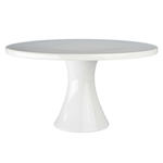 BIA White Porcelain 12 Inch Round Cake Stand