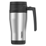 Thermos Element5 Black and Gray Stainless Steel 16 Ounce Travel Mug