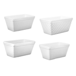 BIA White Porcelain Assorted Texture Mini Loaf Pan