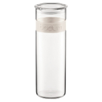Bodum Presso 64 Ounce Storage Jar With White Silicone Band