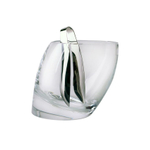 Nambe Tilt 24 Ounce Ice Bucket with Stainless Steel Tongs