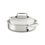 All-Clad d7 Stainless 4 Quart Braiser Pan with Domed Lid