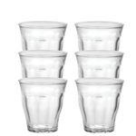 Duralex Picardie Clear Glass 8.5 Ounce Tumbler, Set of 6