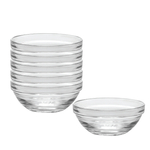 Duralex Lys Clear 10 Ounce Stackable Bowl, Set of 6