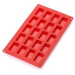 Lekue Red Silicone 20-Cup Financier Mini-Cake Mold