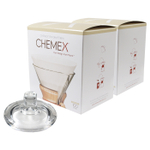 Chemex Glass Coffee Maker Cover and 200 Count Bonded Circle Coffee Filters