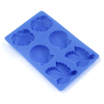 Scandicrafts Blue Silicone 6 Cup Candy and Butter Mold