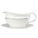 Lenox Federal Platinum Bone China 16 Ounce Sauce Boat & Stand