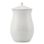 Lenox French Perle White 12.75 Inch Cookie Jar