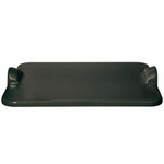Emile Henry Charcoal Ceramic 18 x 14 Inch Large Rectangular Pizza and Baking Stone