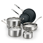 Lagostina Axia Tri-Ply Stainless Ceramic 10 Piece Cookware Set