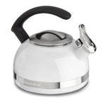 KitchenAid KTEN20CBWH White 2 Quart Kettle with C Handle and Trim Band