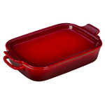 Le Creuset Cherry Stoneware Rectangular Baking Dish with Platter Lid