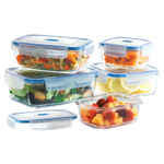 Luminarc Pure Box Glass 10 Piece Food Storage Set with Vented Lids
