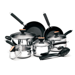 Paula Deen Signature Polished Stainless Steel 12 Piece Cookware Set