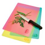 Norpro Pink, Yellow, and Green 3 Piece Flexible Cutting Mat Set