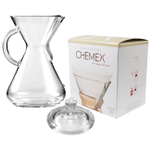Chemex Glass 50 Ounce Coffee Maker with Cover and 100 Count Bonded Circle Coffee Filters