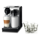 DeLonghi Nespresso Lattissima Stainless Steel Pro Machine with Free Set of 6 Espresso Glasses