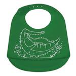 Modern Twist Crocodile Cuddles Green Silicone Bucket Bib