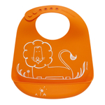 Modern Twist Dandy Lion Orange Silicone Bucket Bib