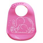 Modern Twist Elephant Hugs Pink Silicone Bucket Bib