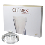 Chemex Glass Coffee Maker Cover and 100 Count Bonded Half Circle Coffee Filters