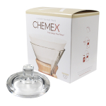 Chemex Glass Coffee Maker Cover and 100 Count Bonded Circle Coffee Filters