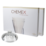 Chemex Glass Coffee Maker Cover and 200 Count Bonded Half Circle Coffee Filters