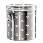 OGGI Acrylic Paw Prints 1 Gallon Treat Jar
