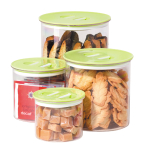 OGGI Stack 'n Store Green 4 Piece Round Canister Set