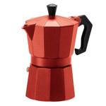 OGGI Red Aluminum 6 Cup Stove-Top Espresso Maker