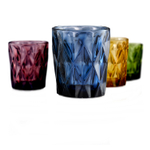 Artland Hightgate Assorted Color 12 Ounce Double Old Fashioned Glass, Set of 4