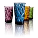 Artland Hightgate Assorted Color 15 Ounce Highball Glass, Set of 4