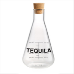 Artland Mixology Glass 25 Ounce Tequila Decanter with Cork Stopper