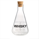 Artland Mixology Glass 25 Ounce Whisky Decanter with Cork Stopper