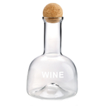 Artland Glass 40 Ounce Wine Decanter with Cork Ball Stopper