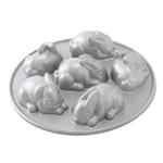 Nordic Ware Cast Aluminum 6 Cavity Mini Baby Bunny Cake Pan