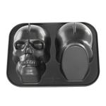 Nordic Ware Cast Aluminum Haunted Skull 9 Cup Cake Pan