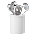 OGGI White Ceramic Utensil Holder