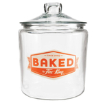 """Anchor Hocking Fire-King 1 Gallon Heritage Hill """"Baked by Fire-King"""" Jar"""